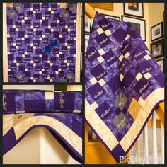 Just finished - made from Royal Crown bags cut up and up-cycled into a quilt. Crown Royal Quilt, Crown Royal Bags, Quilting Ideas, Quilting Projects, Pattern Blocks, Quilt Patterns, Man Quilt, Shirt Quilts, Iowa State