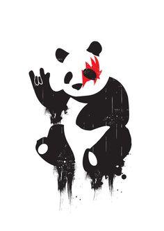Rock and Roll Panda Art Print by Budi Satria Kwan | Society6