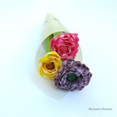 Washi Tape Flowers{Morena's Corner} | The CSI Project