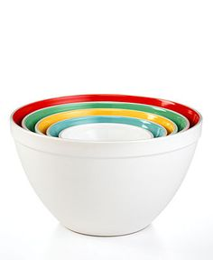 Martha Stewart Collection Mixing Bowls, Set of 5 Ceramic - Kitchen Gadgets & Textiles - Kitchen - Macy's