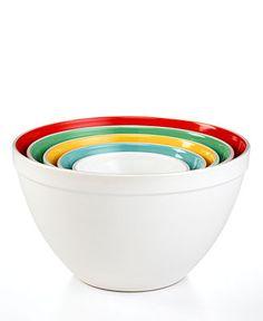 Martha Stewart Collection Mixing Bowls, Set of 5 Ceramic - Kitchen Gadgets & Textiles - Kitchen - Macy's