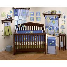 NoJo Sea Babies 6-Piece Crib Bedding Set; it includes a comforter, bumper, dust ruffle, fitted crib sheet, valance, and diaper stacker.   $165.74