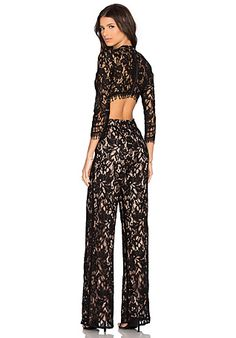 Alexis Richard Jumpsuit in Black Lace | REVOLVE