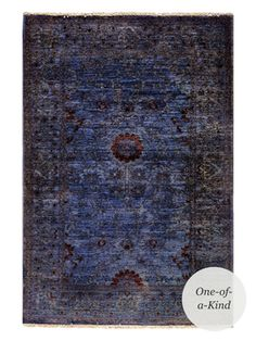 "One-of-a-Kind Hand-Knotted Rug (5'x3'6"") from Modern Romantic Style Feat. Verlaine on Gilt"