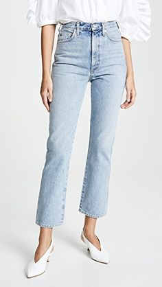 Womens Jeans – Calvin Klein Sculpted High Rise Skinny Jeans Waterfall Destructed