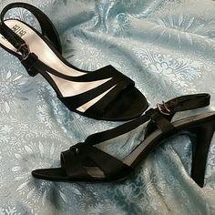 "Mootsies Tootsies dress heels 3 1/2 "" heel. Leather-soled satiny feel dress shoe. Worn once. Excellent condition. Mootsies Tootsies Shoes Heels"