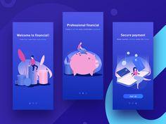 guide page mobile app illistration design ui Web Design, App Ui Design, Interface Design, Flat Design, Graphic Design, Mobile App Design, Onboarding App, Ui Ux, Template Web