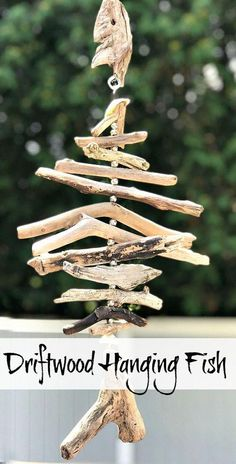 DIY Driftwood Fish Holiday Souvenir. Homeroad.net #driftwood #vacation #souvenir #diyproject #repurposed #fish #driftwoodproject