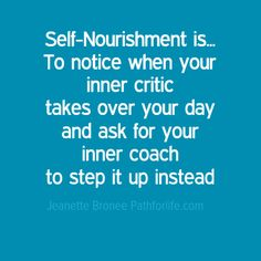 if that inner voice knocks you down - don't listen, if it cheers on you, listen! selfnourishment.pathforlife.com