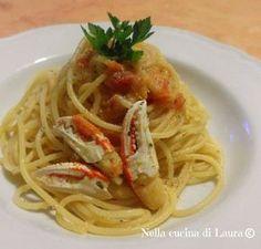 spaghetti con sugo di granchio - nella cucina di laura