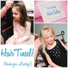Nicki station!! Hair tinsel!!!  Glitter and Gloss: