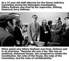 Friends Of Liberty: This Summation Of Hillary Rodham Clinton by her Fellow Democrat Says It All..