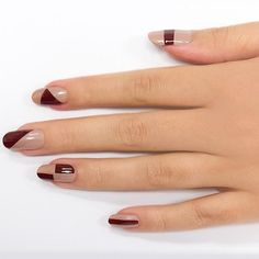 If you ask us, you can never have too many nail-art design ideas. With that in mind, we teamed up withCaption Polish –a new hot nail polish brand–to create 4 manis you can definitely do at home. From geometric shapes to colored cuticles, these looks couldn't be any chicer or easier to create. Get the steps for each style and shop our favorite colors.