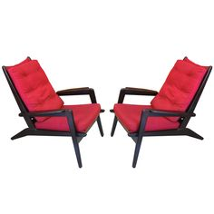 Pair of Armchairs by Pierre Guariche for Airborne | From a unique collection of antique and modern lounge chairs at http://www.1stdibs.com/furniture/seating/lounge-chairs/
