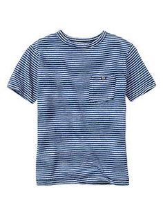 Mini-stripe pocket tee