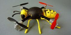 Turn Your Micro Drone into a Buzzing Wasp with this 3D Printed Case http://3dprint.com/70371/3d-print-drone-wasp/