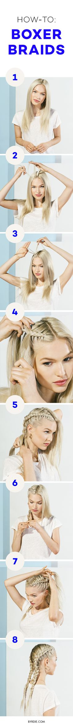 How to do a boxer braid                                                                                                                                                                                 More