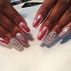 Pink chrome goddess  nails by  @prettinails  #chromenails #chromaholic #chromecain Book online at PrettiNails.com #prettinails #nailtech #ntna #nailartist #nailsmagazine #naildit #nailswag #nails #ignails #nailfashion #nailsalon #hotnails #glam #dopenails #memphis #memphisnailsalon #memphisnailtech #choose901 #blackgirlsdonails #stayclassymemphis