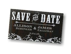 Just Our Type Save the Date Magnet