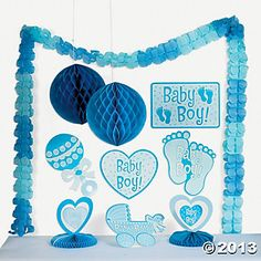 Baby Boy Shower Decorating Kit - Oriental Trading - Discontinued
