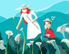 """Check out new work on my @Behance portfolio: """"Calla Lily"""" http://be.net/gallery/50956953/Calla-Lily"""
