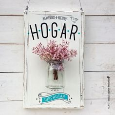 Porta flores | Hogar para disfrutar #cocinasrusticasmadera Deco Paint, Decoupage Vintage, Diy Bottle, Diy Woodworking, Wood Signs, Diy And Crafts, Shabby, Diy Projects, Handmade