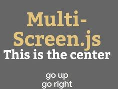 Multi-Screen.js is a lightweight jQuery plugin for creating a fashion single page website that allows the visitor to navigate through content sections with vertical and horizontal transition animations.