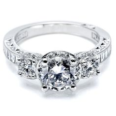 Tacori Classic Crescent HT2532RD Channel Engagement Ring