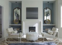 Pied a Terre Transitional Living Room