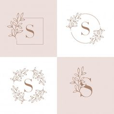 Letter s logo design with orchid leaf element Premium Vector Mini Drawings, Art Drawings For Kids, Creative Lettering, Lettering Design, Orchid Leaves, Diy Tattoo, Logo Background, Hand Embroidery Patterns, Letter Logo