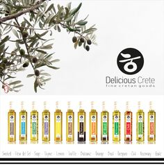 Infused olive oils by Delicious Crete.