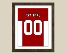 Arizona Cardinals Poster print  Jersey Design   by CSportImages