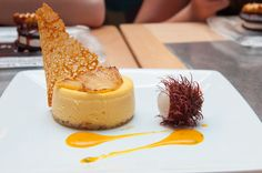 Mango Cheesecake with Pineapple Lychee Fruit from Flying Fish