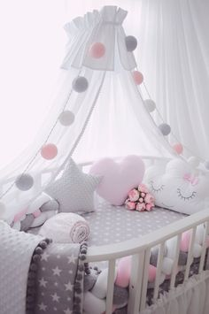 Pottery Barn Kids' bedroom furniture is designed for quality and safety. Find furniture for kids and babies to decorate with timeless style. Changing Tables Baby Bedding and Nursery Lighting at Walmart Baby Furniture Sets - June 15 2019 at Baby Room Decor, Nursery Room, Nursery Gray, Child's Room, Nursery Decor, Room Baby, Room For Baby Girl, Pink Elephant Nursery, Nursery Fabric