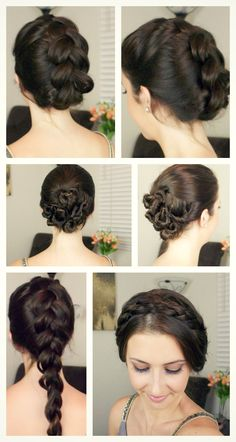 Quick easy hairstyles for wet hair! Click for a video tutorial of each one