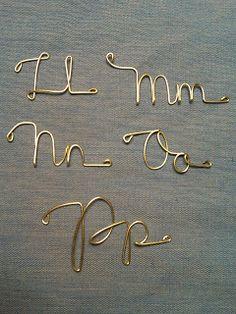 Random Wire Art: Alphabet: L...M...N...O...P...