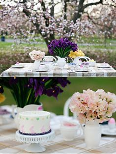 tea party in the garden would be a fun photo shoot. Or inside with a butting made from vintage scraps and put chair covers and hang a tulle chandler from the ceiling