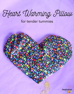 DIY flaxseed aromatherapy warming pillow for tender tummies (GREAT FOR CUDDLES!)