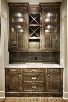 Butler's Pantry. Love the Cabinets.   By Melissa @ Veranda Interiors.
