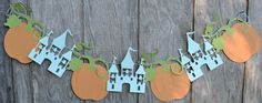 Princess Party Decorations, Cinderella Inspired Banner, Pumpkin Banner, Castle Banner