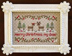 Merry Christmas My Deer from Country Cottage Needleworks -- click to see more
