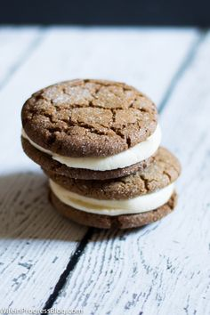 A declicious gingersnap cookie recipe that is dairy free, crunchy yet chewy and cracks beautifully on top! It's the perfect cookie for the holidays! #TriplePFeature