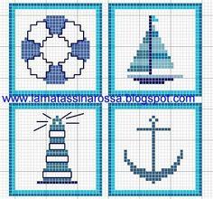 LaMatassinaRossa: altro free estivo Free nautical cross stitch patterns.