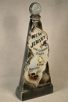 New Jersey Jim Beam Decanter Liquor Ceramic Collectible