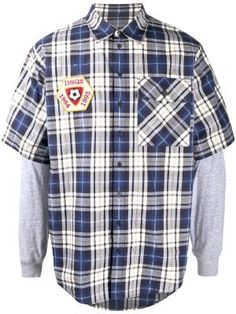 Moda Masculina - Camisas - Farfetch Denim Shirt Men, Dsquared2, Long Sleeve Shirts, Men Casual, Plaid, Sleeves, Cotton, Mens Tops, Pocket