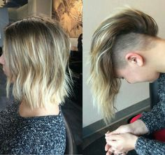 mohawk/lob with ombre color