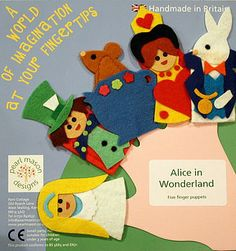 Alice In Wonderland Finger Puppets - I need to make these with a class!