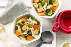This recipe can easily be customized by pairing with your favourite colorful veggies. Garlic Chicken Soup Recipe, Garlic Soup, Roasted Garlic, Vegetarian Noodle Soup, Campbells Soup Recipes, Cooking Chicken To Shred, Small Pasta, Soups And Stews, Food Hacks