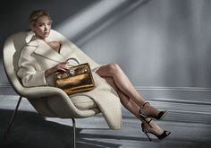 Shot by Patrick Demarchelier, the latest Dior campaign features actress and muse Jennifer Lawrence with new versions of the Diorever and Diorama bags.