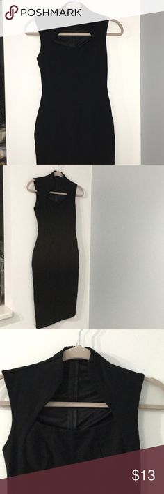 Black cocktail dress Adapts to body very well. Only worn once. Fashion Nova Dresses Midi